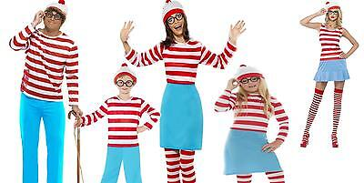 Boys Girls Teens Licensed Wheres Wally Wenda Nerd Childs Fancy Dress Costume - Teen Girl Nerd Costume