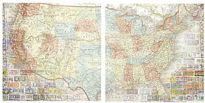 Paper House UNITED STATES MAP 12x12 Scrapbooking (2PCS) Paper LICENSE PLATES