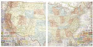 Map Scrapbook Paper EBay - Us map paper plates