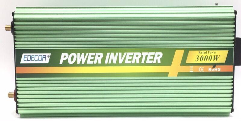 EDECOA 3000W 24V Power Inverter Modified Sine Wave DC 24V to 110V 120V AC