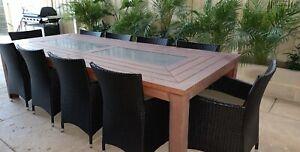 Hardwood outdoor 10 seat setting