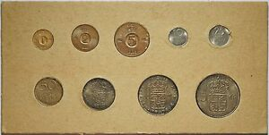 Sweden-1963-64-Mint-Set-with-1955-5-Kronor-incl-3-Silver-coins-RARE-SET