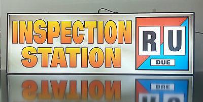 Business Led Lighted Box Sign Inspection Station  R U Due