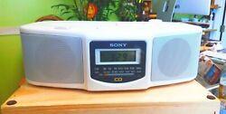 SONY - AM/FM CD ALARM CLOCK RADIO - ICF-CD800 - TESTED/WORKS!!