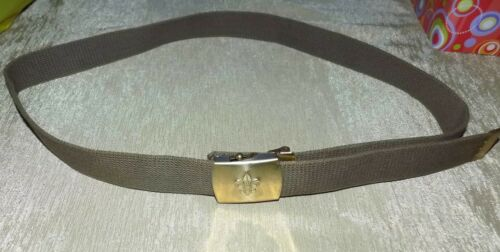Boy Scouts BSA Official Canvas Belt w/ Brass Buckle adjustable to 46 inches