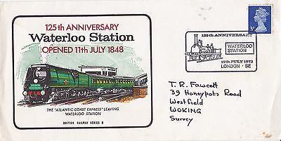 GB 1973 125th Anniversary of Waterloo Station FDC  VGC