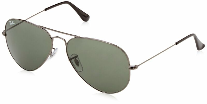 Ray Ban RB3025 Aviator Sunglasses 58 mm Gunmetal FrameNon Polarized