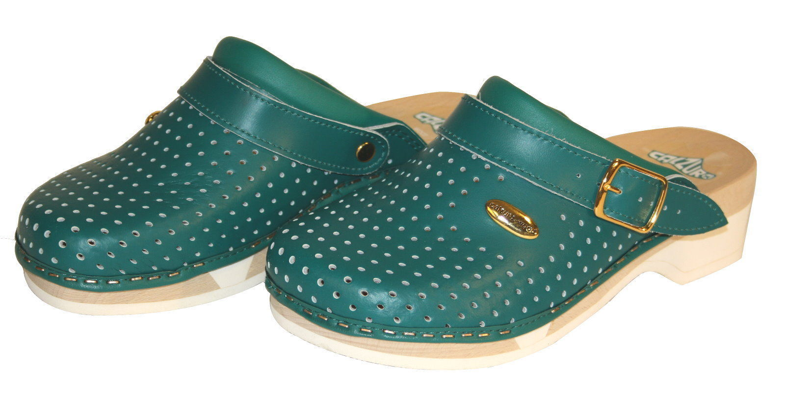 Calzuro Leather Wood Clogs Work Shoes Hospital Practice Shoe Work Boots