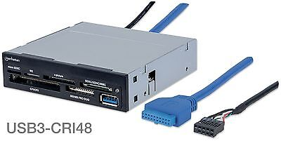 "USB 3.0 Internal 3.5"" Front Panel 48-in-1 Multi-Card Reader/Writer w/ USB3 Port"