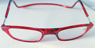 Lesebrille-Farbe-rot-Magnet-schmale Gesichter +1,0 bis +3,0