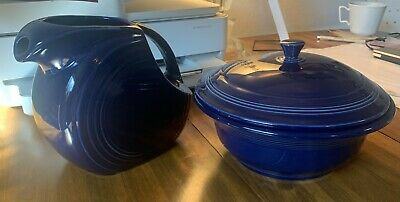 Fiestaware Vintage Casserole And Pitcher