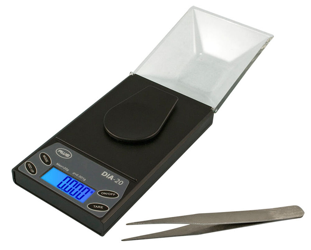 20g x 0.001g Flip Lid Diamond Digital Scale w/Case