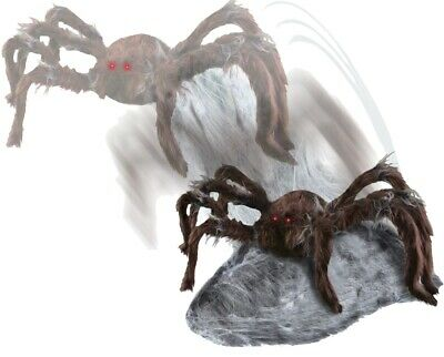 Jumping Brown Spider Attack Prop Animated Animatronic Haunted