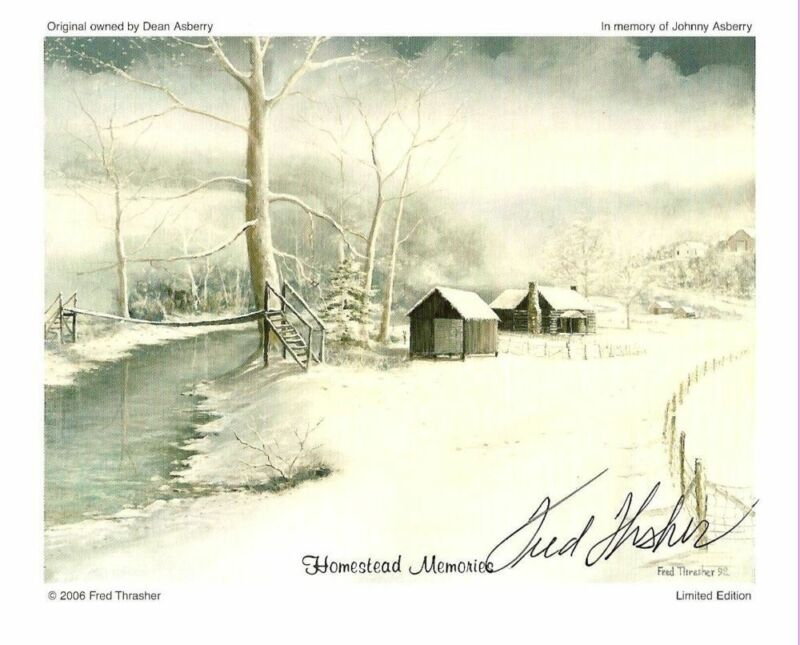Morning Mist by Fred Thrasher   Signed by Fred   5 x 7