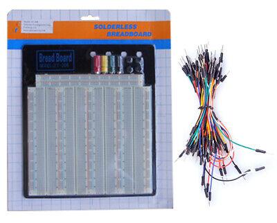 Tektrum Solderless 3220 Tie-points Experiment Plug-in Breadboard Kit With Wires