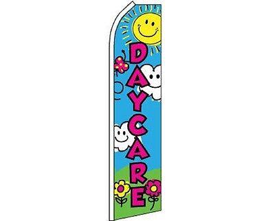Daycare Children Swooper Super Feather Advertising Marketing Flag