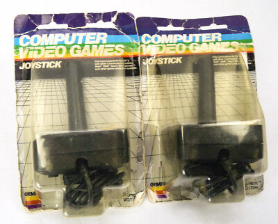 Lot 2 Gemini Joystick Video Game Controllers NEW VG170 Commodore Atari Vintage