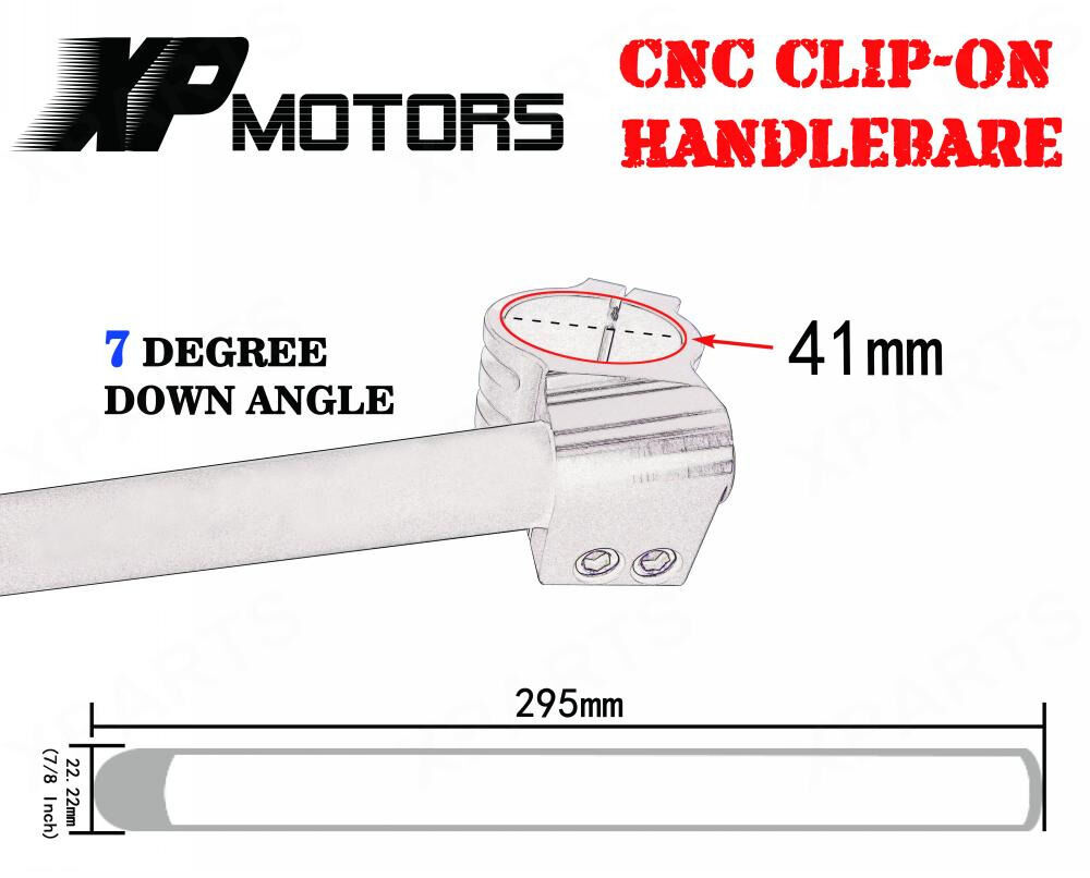 Black 41mm Clipons Clip-On Handlebars For Honda MC21//MC28//NC23//NC29//NC30//CBR400