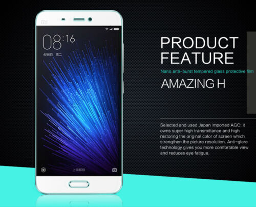 100%Original Nillkin 9H Tempered Glass Film Screen Protector For Xiaomi Mi 5 Mi5