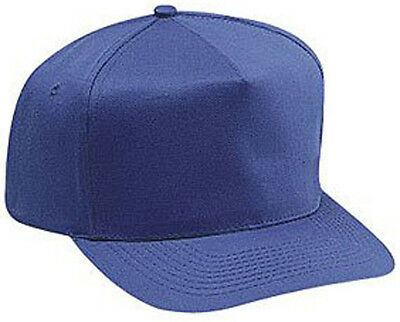 Cotton Twill Five Panel Pro Style Caps, Royal - Pro Style Cotton Twill Cap