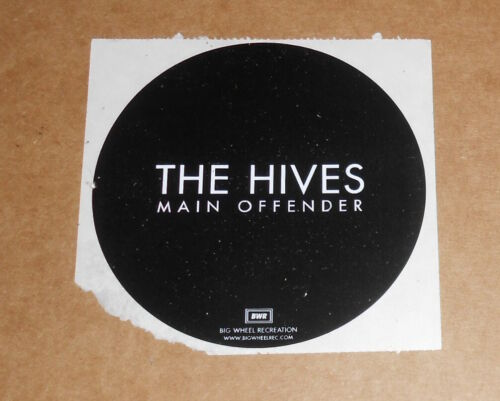 """The Hives Main Offender Sticker Circle Promo 4"""""""