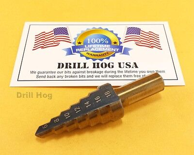 Drill Hog 6-18mm Metric Step Bit Multi Drill Bit MM UNIBIT M7 Lifetime Warranty