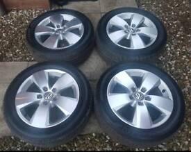 """Genuine mk7 golf 16"""" alloy wheels"""