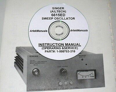 Singer Ailtech 6615ed Sweep Oscillator Operating Service Manual