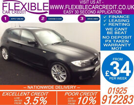 2011 BMW 118D 2.0 M-SPORT GOOD / BAD CREDIT CAR FINANCE FROM 34 P/WK