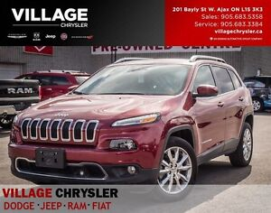 2016 Jeep Cherokee Limited,Nav, Leather, Tech Pkg, Sunroof...
