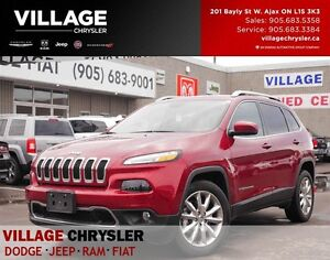 2016 Jeep Cherokee Limited, Nav,Leather,Heated Seats,Remote