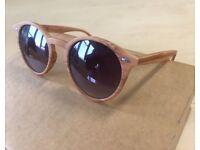Mens Sunglasses light wood round keyhole / mens bamboo zebra glasses frames zara topman asos