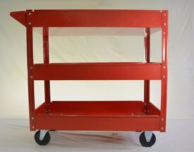 3 Tiered Transport Trolley - Red