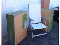 2 Multiposition reclining garden chairs