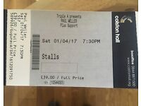 x1 SOLD OUT Paul Weller Bristol Colston Hall Ticket