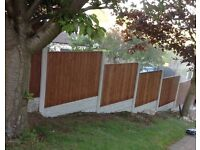 Fencing Deal 60ft heavy duty timber panels and conrete posts and gravel boards