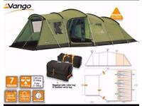 VANGO MARITSA 700 TENT INCLUDING FOOTPRINT, CARPET & ADDITIONAL TUNNEL EXTENSION