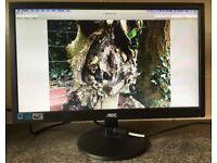 20 inch Widescreen AOC E2070Swn 19 LED TFT Flat screen Monitor