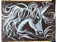 Original Acrylic Art Unicorn