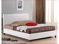🔥🔥Immediate Dispatch🔥🔥FAUX LEATHER BED FRAME IN SINGLE,SMALL DOUBLE,DOUBLE & KING SIZE