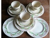 VINTAGE ART DECO Myott Son & Co China Hand China Porcelain 11 Piece Tea Set:C 1936 Collectors RARE