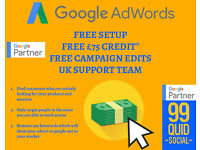 Google Adwords Management only £99 Per Month / Social Media Posting £99 per month - NO SETUP FEES!