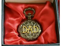 New gifted boxed DAD pocket watch
