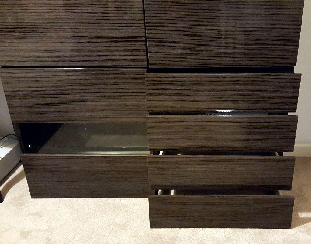 ikea besta double sideboard black brown selsviken high gloss brown in sidcup london gumtree. Black Bedroom Furniture Sets. Home Design Ideas