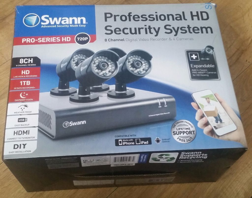 Professional HD Security System ( 8 channel digital video recorder ...