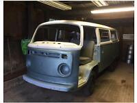 Vw t2 bay window camper van restoration project