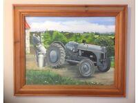 Ford Ferguson 9N Grey Fergie tractor oil painting