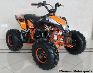 FREE SHIPPING NEW Venom Madix PREMIUM 125cc Gas Quad ATV - Front/Rear Disc + Big 8 Tires + Reverse + 6-Months Warranty