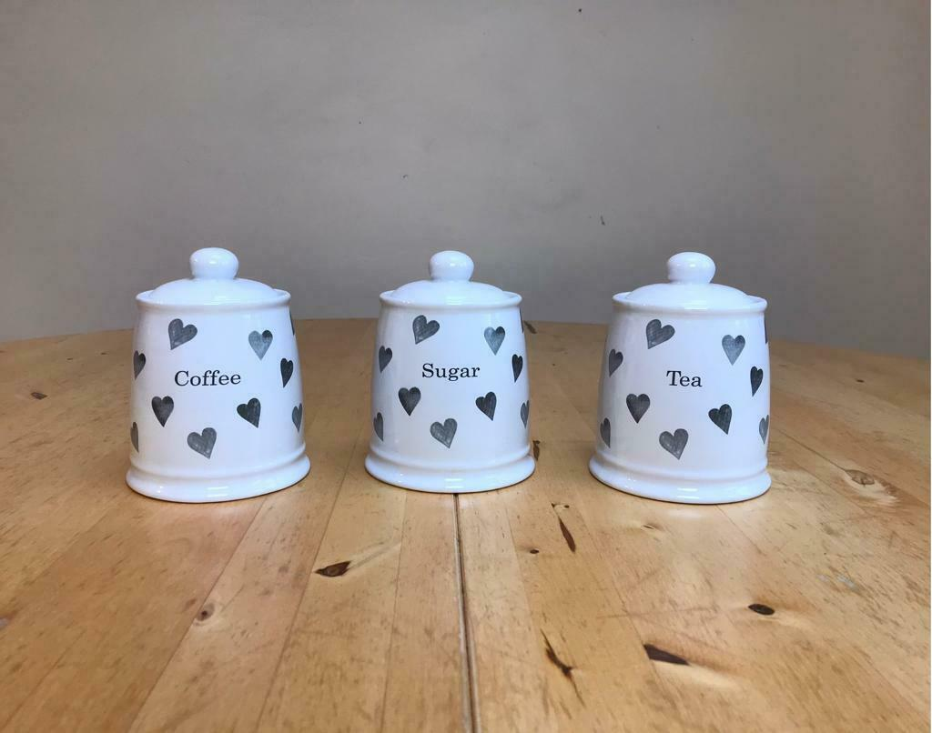 New In Box Argos Home Set Of 3 Hearts Storage Jars In Horsforth West Yorkshire Gumtree