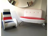 Funky Retro Modern Design American style Sofa Chaise Playroom Kids furniture